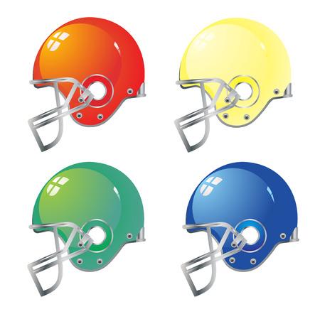 Football helmet color vector eps 10 Vector