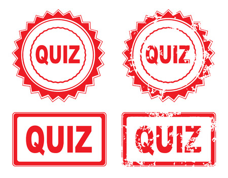 wariety: Quiz Rubber Stamp over a white  Illustration