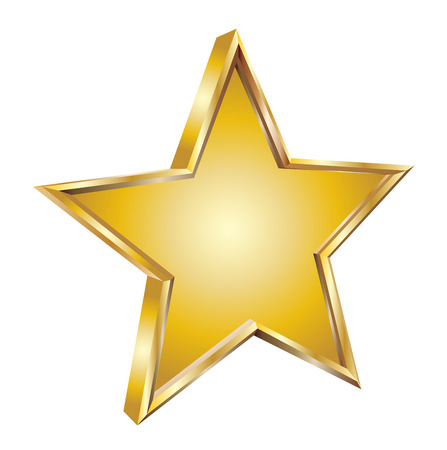 jewell: Gold star vector illustration