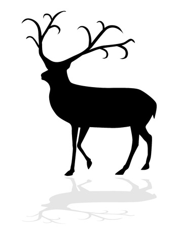 Reindeer vector illustration eps 10 Vector