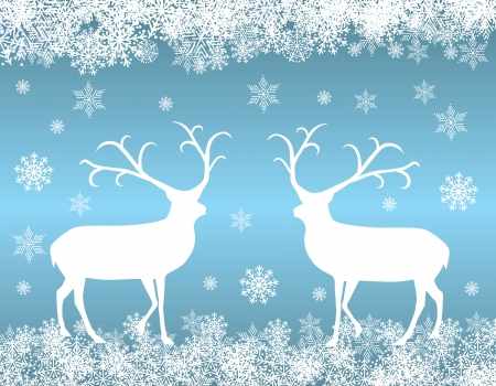 santa moose: Reindeer background Illustration