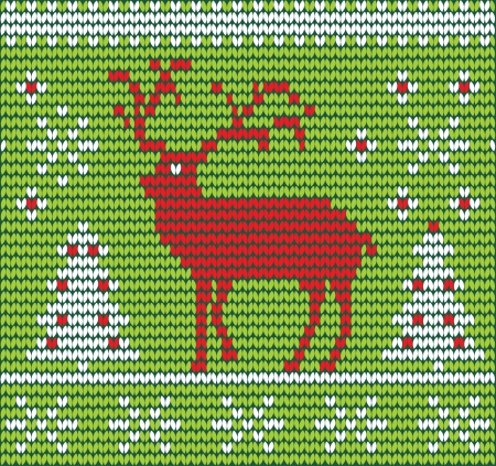 Reindeer made of wool  vector illustration eps 10 Stock Vector - 23857861