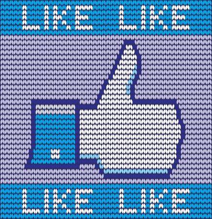 like button made of wool eps 10 Stock Vector - 23857872