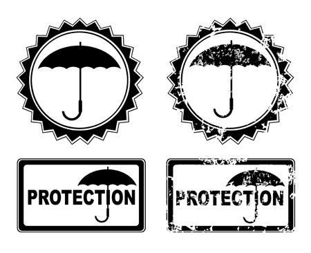 Vector umbrella protection Vector