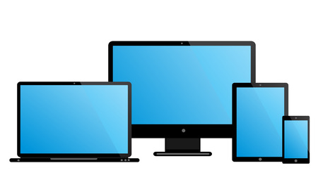 laptop monitor tablet mobile Vector