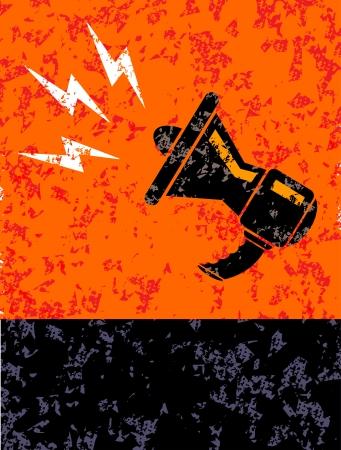 mute swan: Megaphone Illustration