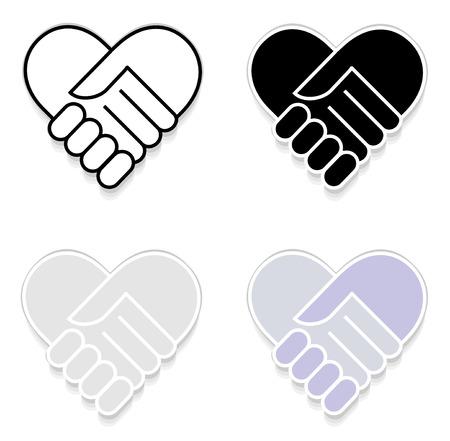 shake hand: Hand shake sticker vector