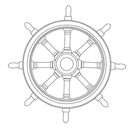 mariner: Boat steering wheel vector  Illustration