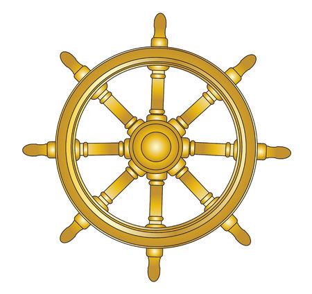 rack wheel: Boat steering wheel vector  Illustration