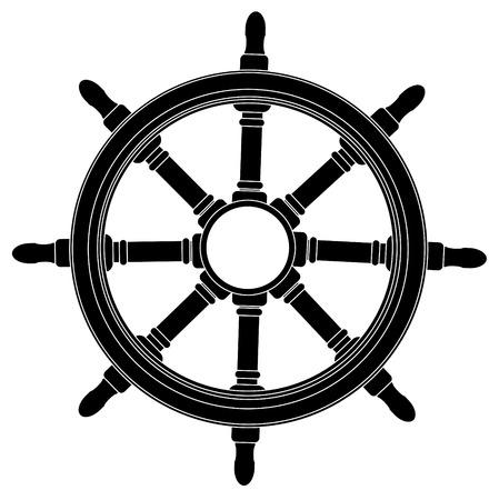 seaman: Boat steering wheel vector  Illustration