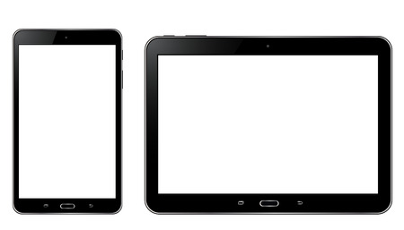 Tablet with white screen Иллюстрация