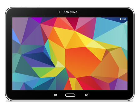 Samsung Galaxy Tab 10.1 LTE 4 noir Banque d'images - 31143875