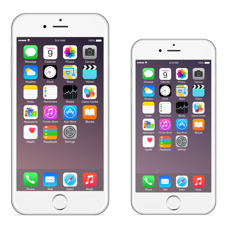 6 Iphone Iphone 6 plus Banque d'images - 31609862