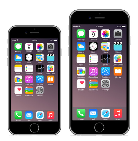 mobile phone icon: Iphone 6 Iphone 6 plus
