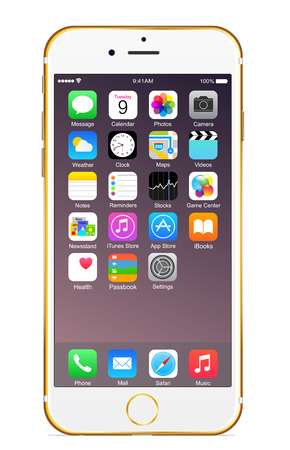 IPhone 6 plus l'or Banque d'images - 31608823