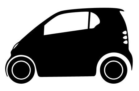 small car: Silhouette small car illustration