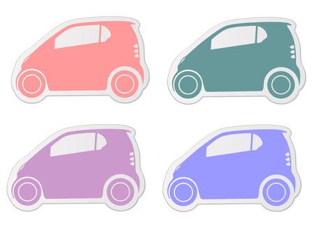 Petite voiture autocollant illustration Vecteurs