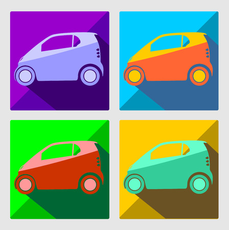 small car: Small car icon illustration