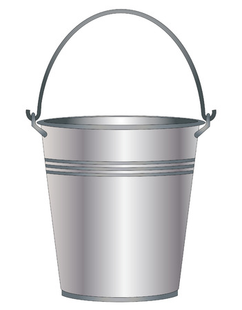 domestic life: Bucket on a white background vector eps 10
