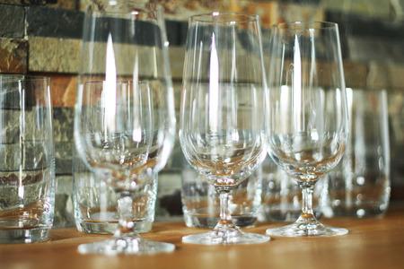 Glass in kitchen photo