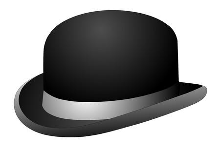 Chapeau melon noir sur un fond vecteur eps 10
