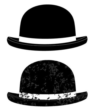 pamper: Black bowler hat on a white background vector eps 10