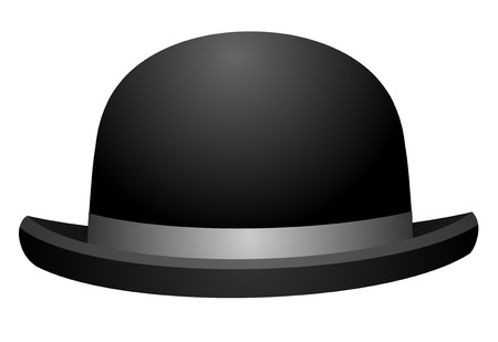 bowler hats: Black bowler hat on a white background vector eps 10