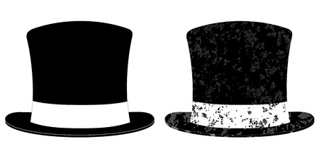 stovepipe hat: Black Top Hat illustration isolated on white background vector eps 10 Illustration