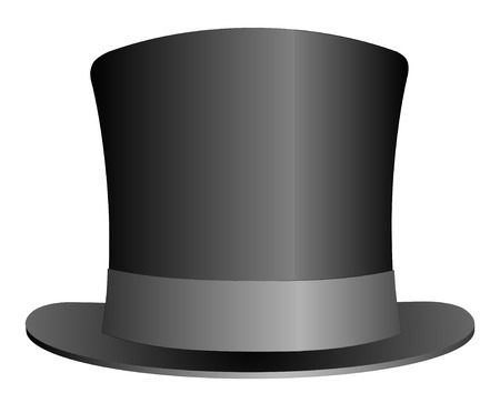 stovepipe hat: Black Top Hat illustration isolated on white background vector