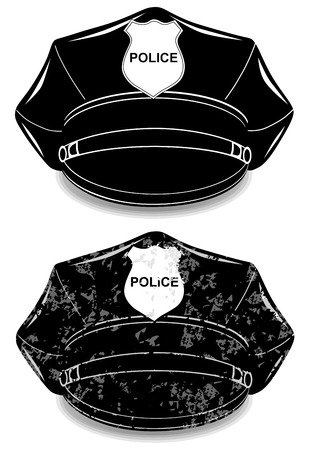 peaked cap: Police peaked cap vector illustration isolated on white background eps 10