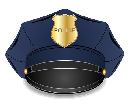 gorra policía: Policía llegaron a un máximo ilustración vectorial casquillo aislado en el fondo blanco EPS 10 Vectores