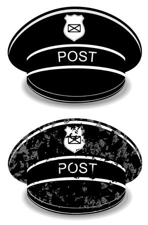 peaked cap: Postman peaked cap vector illustration isolated on white background eps 10