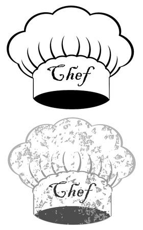 kitchener: Chef hat on white background vector eps 10 Illustration