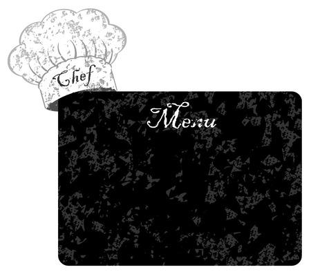 kitchener: Chef hat with menu