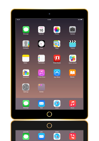 IPad Air 2 gold with icon on screen