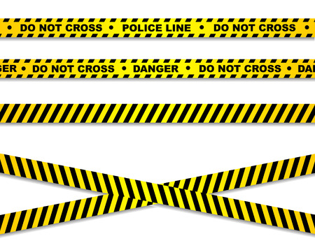 cordon: Police line and danger tapes Illustration