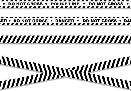 csi: Police line and danger tapes Illustration