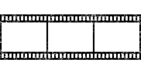 Grunge blank film strip Stock Vector - 34824920