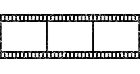 Grunge tira de película en blanco Foto de archivo - 34824920