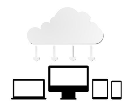 telecommunications equipment: Cloud computing concept vector  Illustration