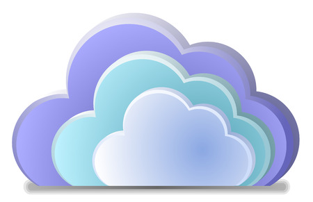 synchronizing: Color cloud vector
