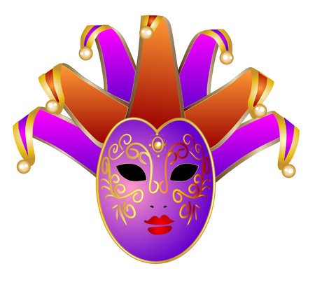 theatrical performance: Venice mask Illustration