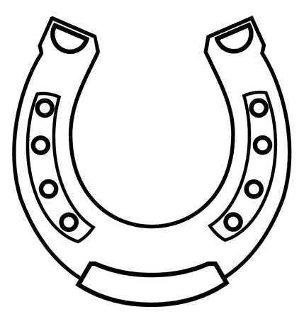 walking shoes: Horseshoe Illustration