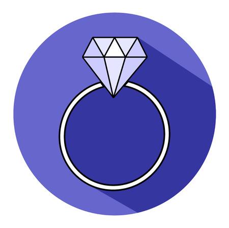engagement: Diamond engagement ring Illustration