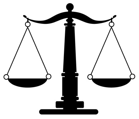 lawyer in court: Scales of Justice