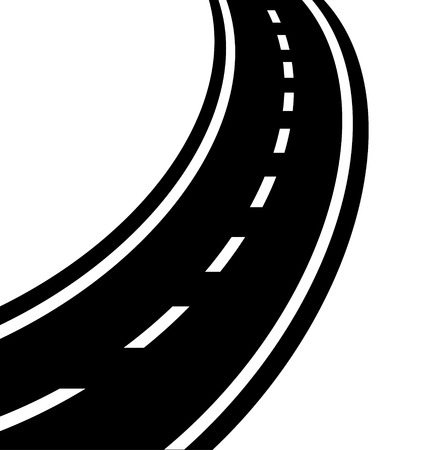 single lane road: winding road vector eps 10 Illustration