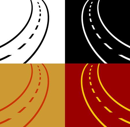 motorizado: sinuoso camino vector eps 10