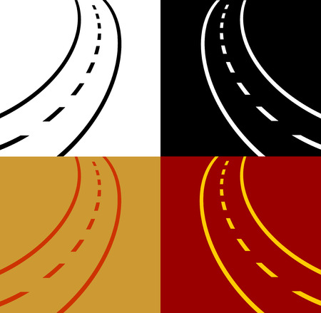 motorized sport: winding road vector eps 10 Illustration
