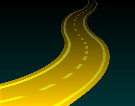 diminishing perspective: winding road vector eps 10 Illustration