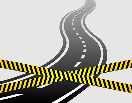 motorized sport: winding road vector  Illustration
